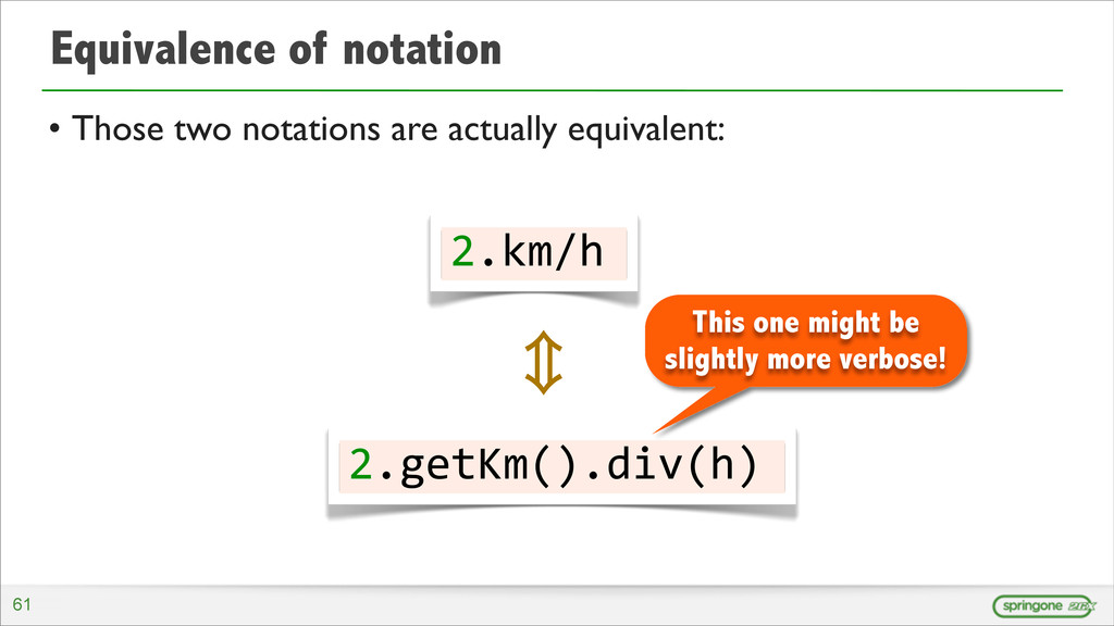 Equivalence of notation • Those two notations a...