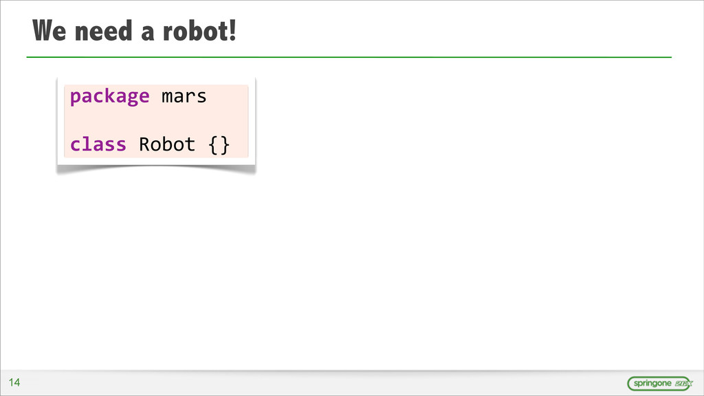We need a robot! 14 package	