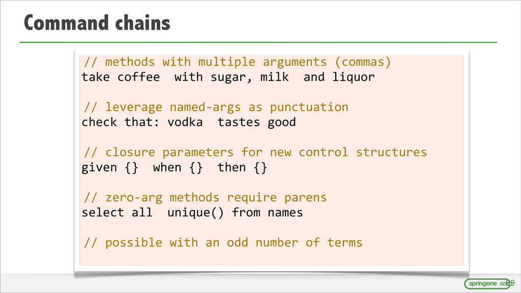 Command chains //	