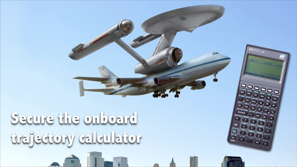 Secure the onboard trajectory calculator