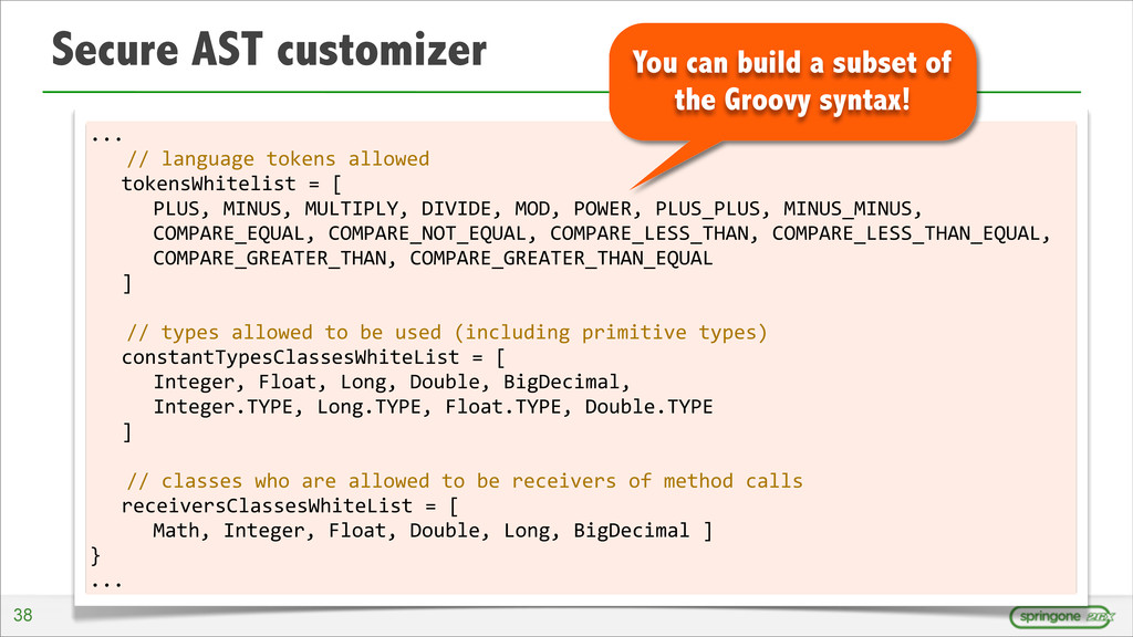 Secure AST customizer 38 ... //	