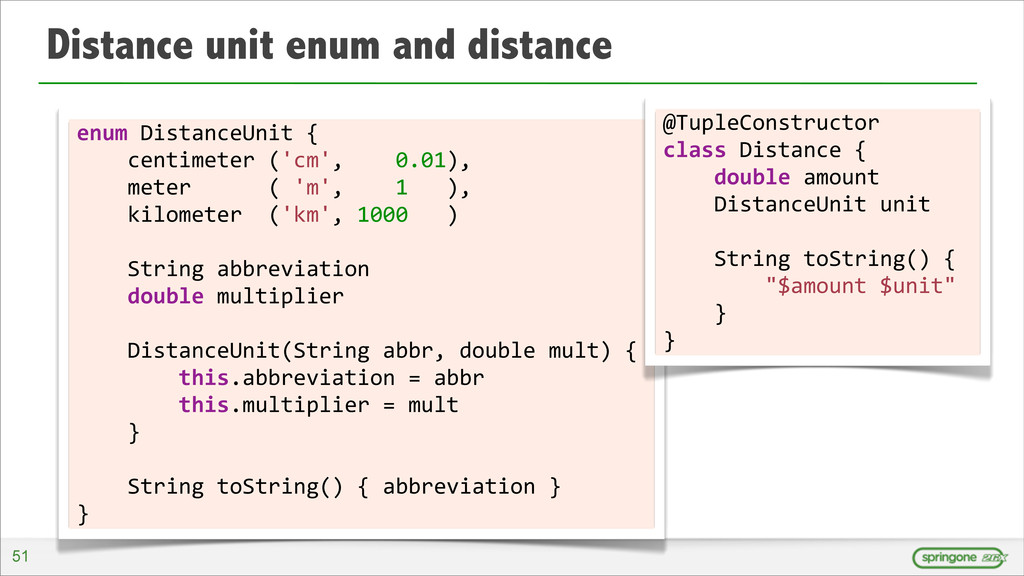 Distance unit enum and distance 51 enum	