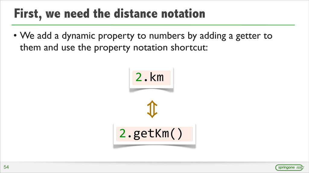 First, we need the distance notation • We add a...