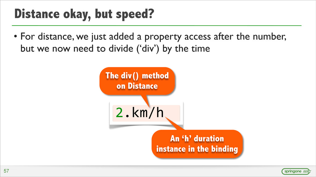 Distance okay, but speed? • For distance, we ju...