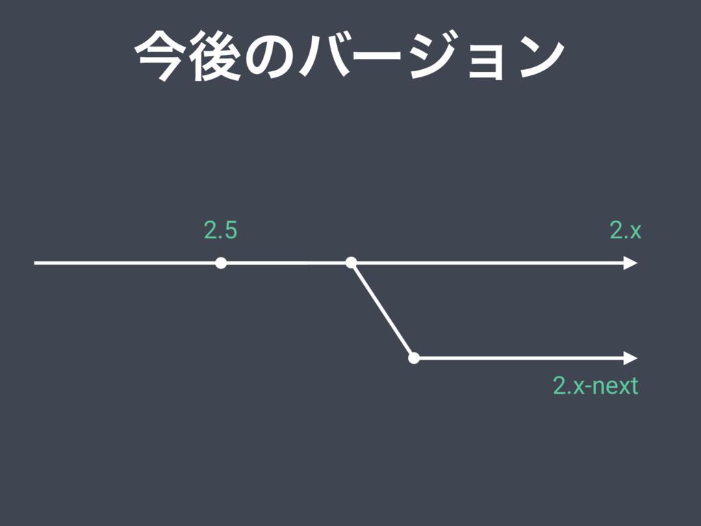 ࠓޙͷόʔδϣϯ 2.x 2.x-next 2.5