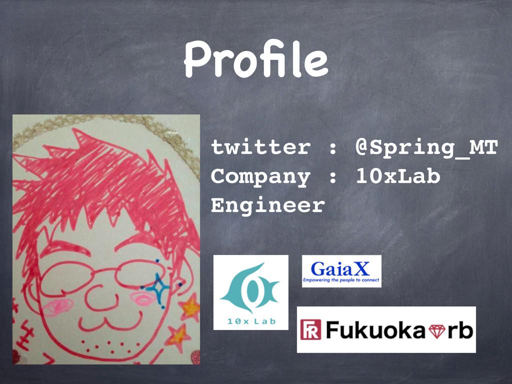 Profile twitter : @Spring_MT Company : 10xLab En...