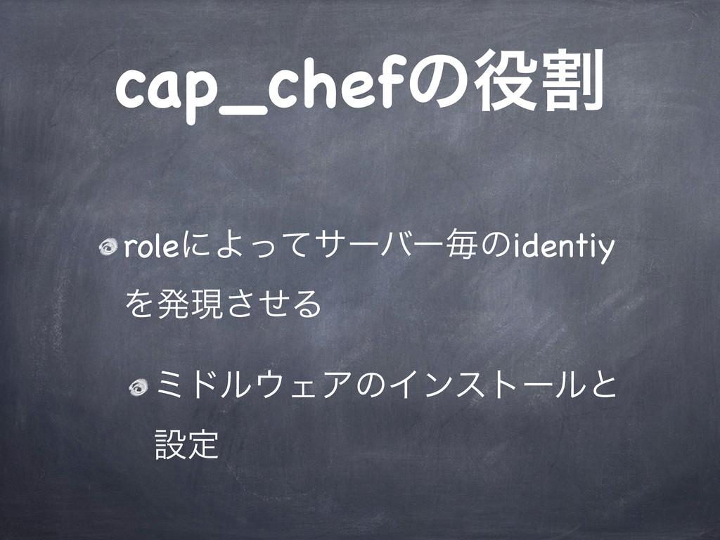 cap_chefͷׂ roleʹΑͬͯαʔόʔຖͷidentiy Λൃݱͤ͞Δ ϛυϧΣΞ...