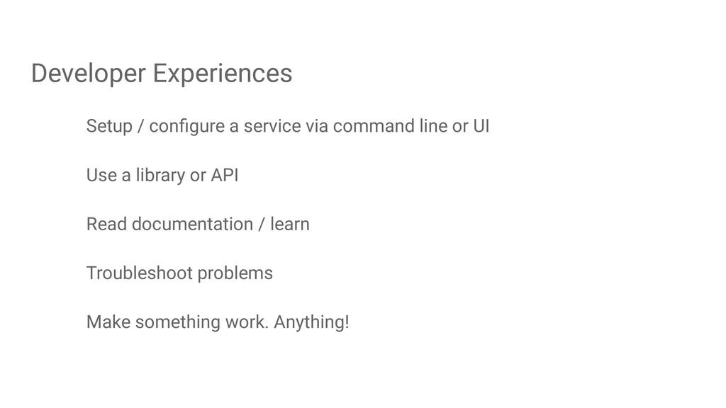 Setup / configure a service via command line or ...