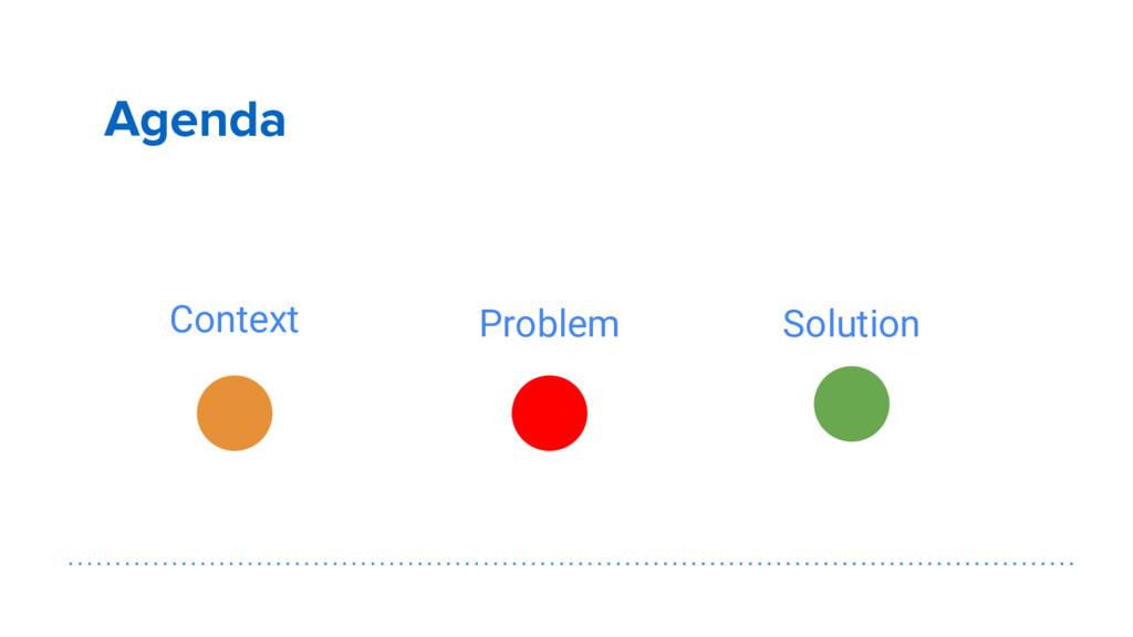 Agenda Context Problem Solution