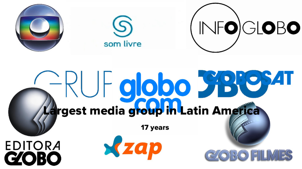 Largest media group in Latin America 17 years