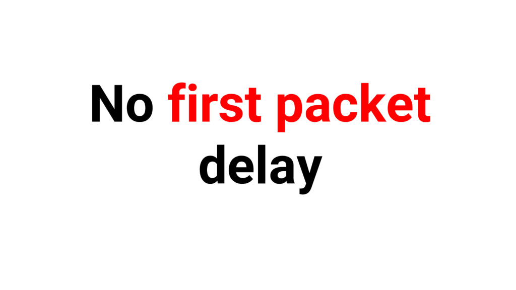 No first packet delay