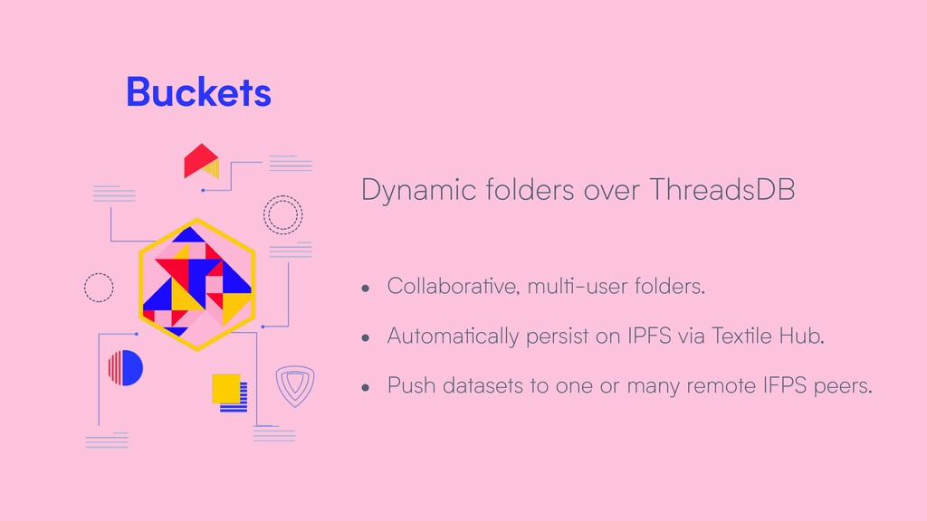 Buckets Dynamic folders over ThreadsDB • Collab...