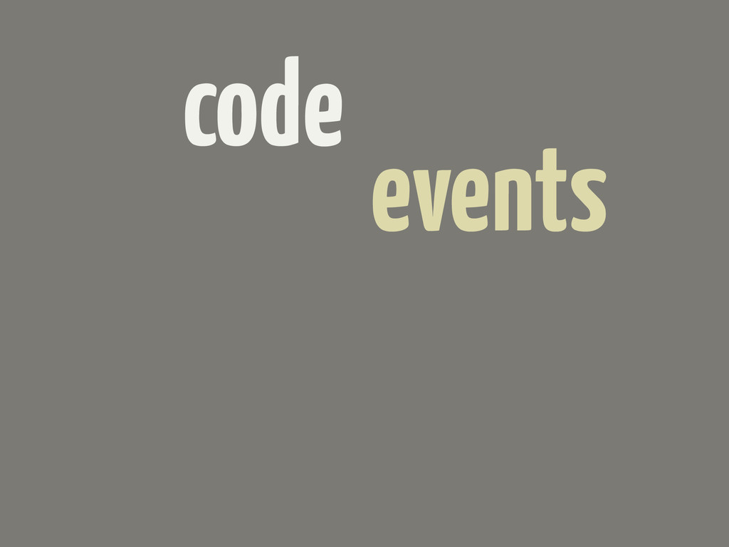 code events