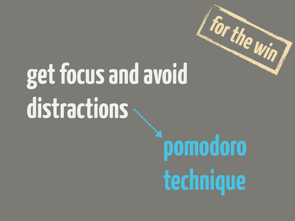 get focus and avoid distractions for the win po...