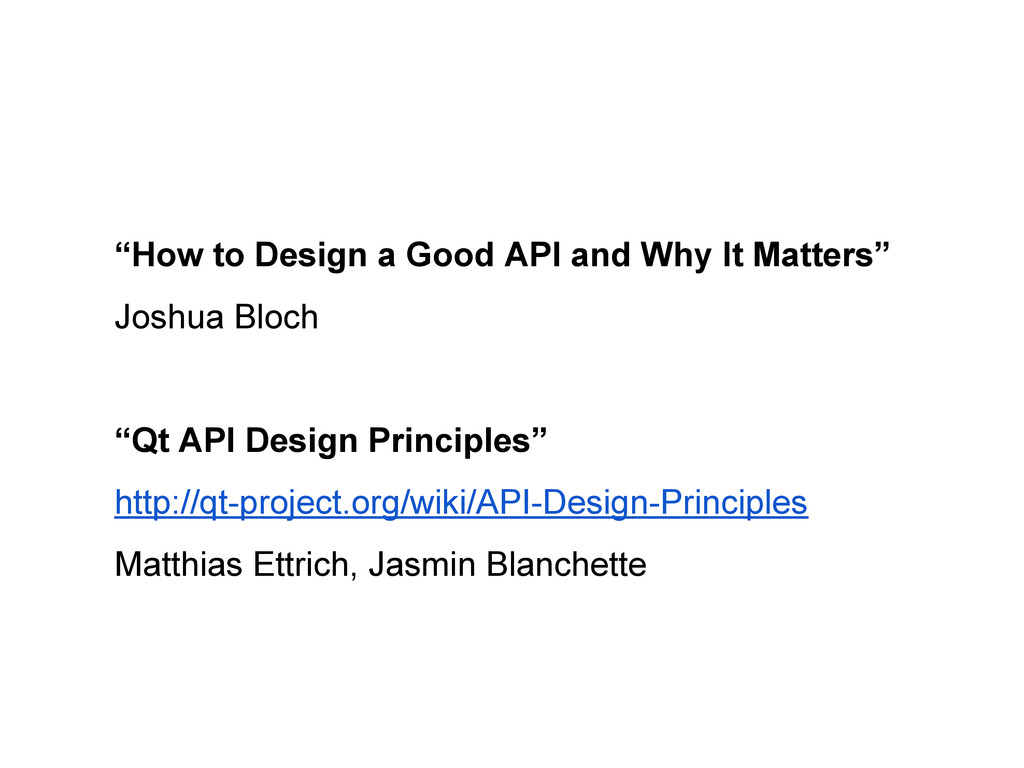 """How to Design a Good API and Why It Matters"" J..."