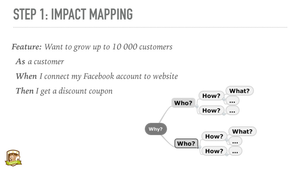 STEP 1: IMPACT MAPPING Feature: Want to grow up...