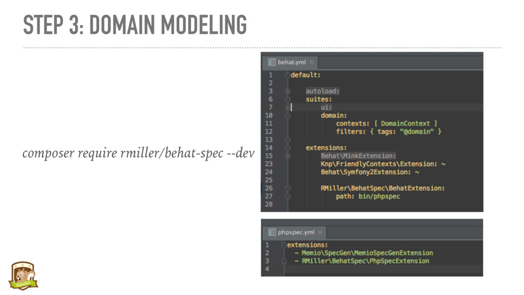 STEP 3: DOMAIN MODELING composer require rmille...