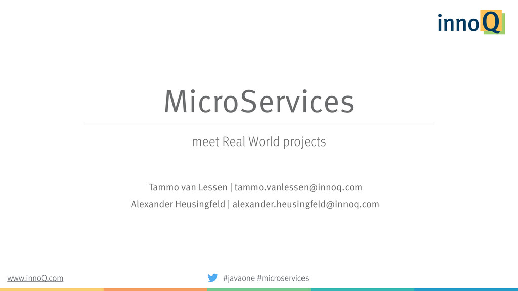 MicroServices meet Real World projects Tammo va...