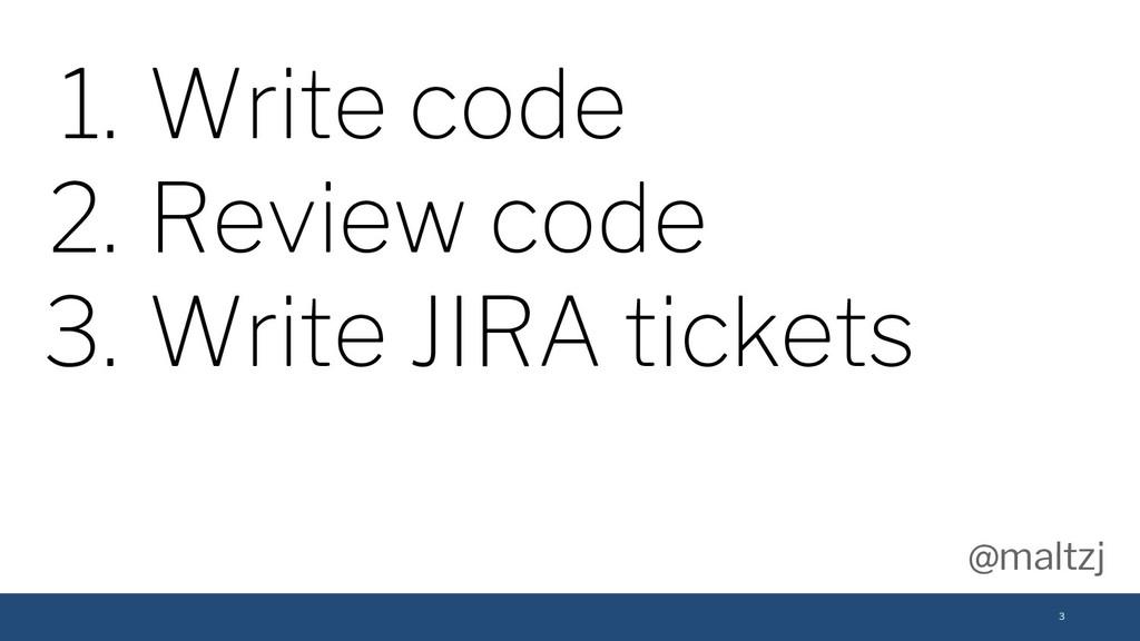 @maltzj 3 1. Write code 2. Review code 3. Write...