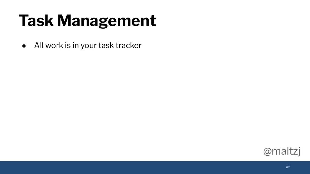 @maltzj ● All work is in your task tracker Task...