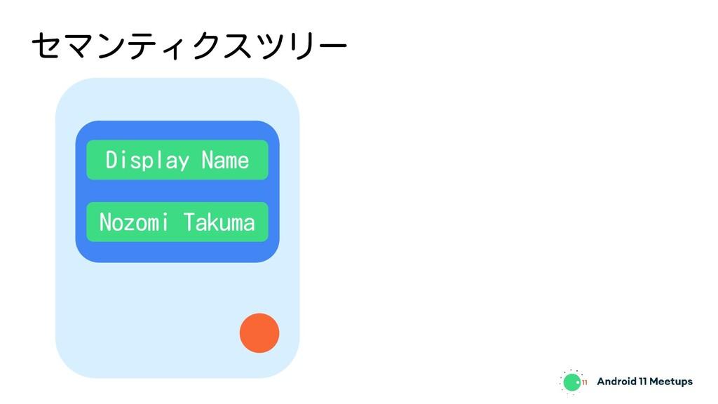 セマンティクスツリー Display Name Nozomi Takuma