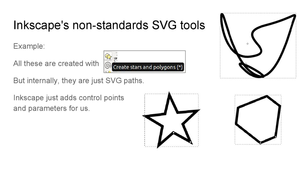 Inkscape's non-standards SVG tools Example: All...