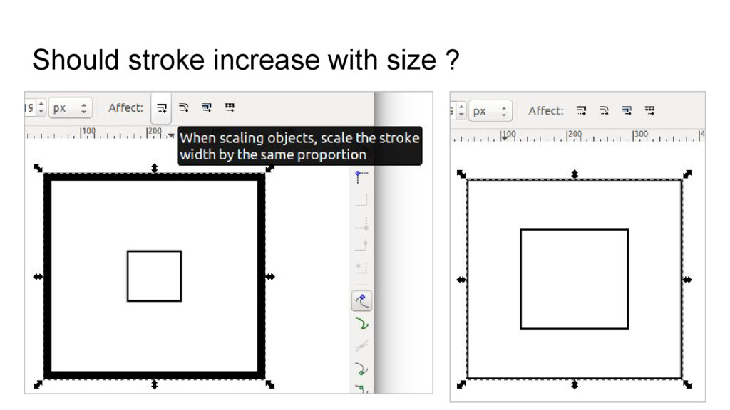 Should stroke increase with size ?