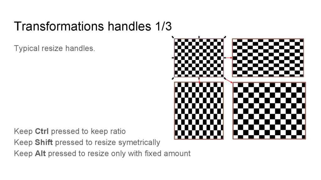 Typical resize handles. Keep Ctrl pressed to ke...