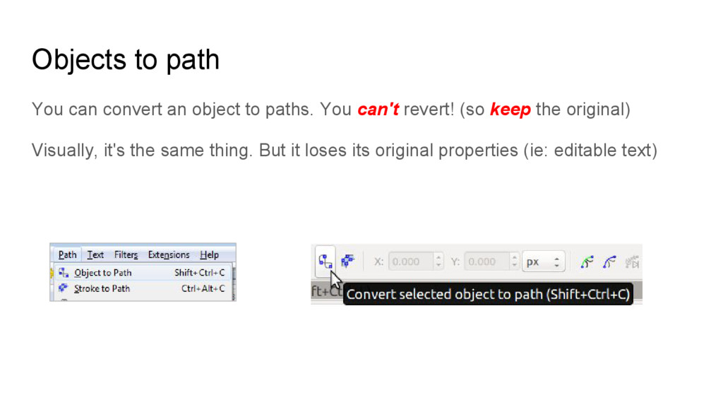 Objects to path You can convert an object to pa...