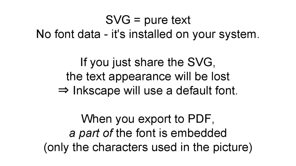 SVG = pure text No font data - it's installed o...