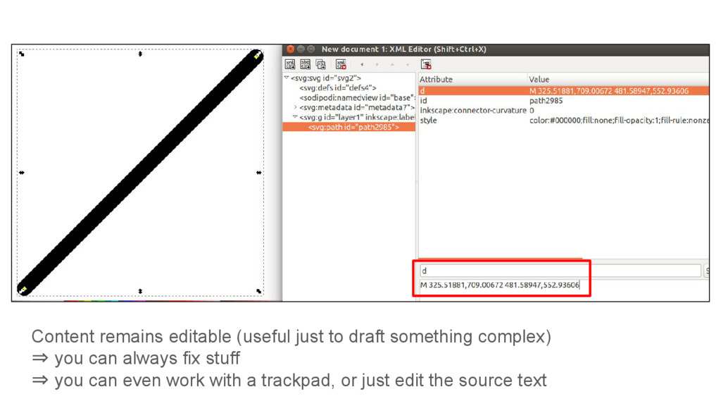 Content remains editable (useful just to draft ...
