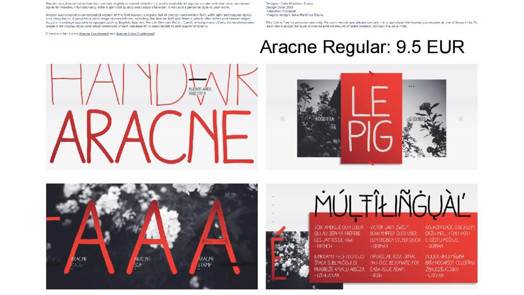 Aracne Regular: 9.5 EUR