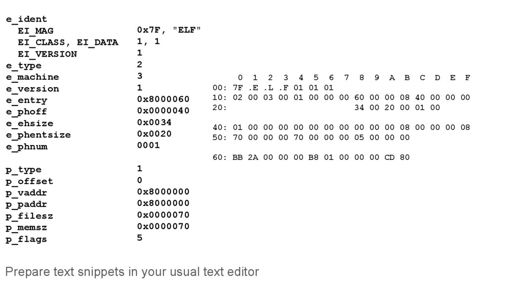 Prepare text snippets in your usual text editor...