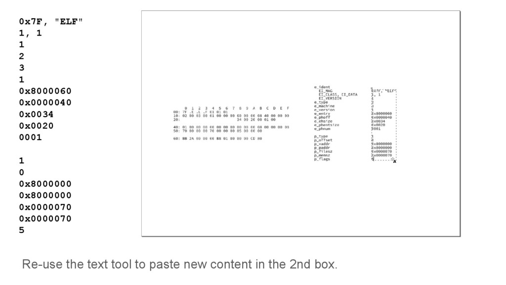 Re-use the text tool to paste new content in th...