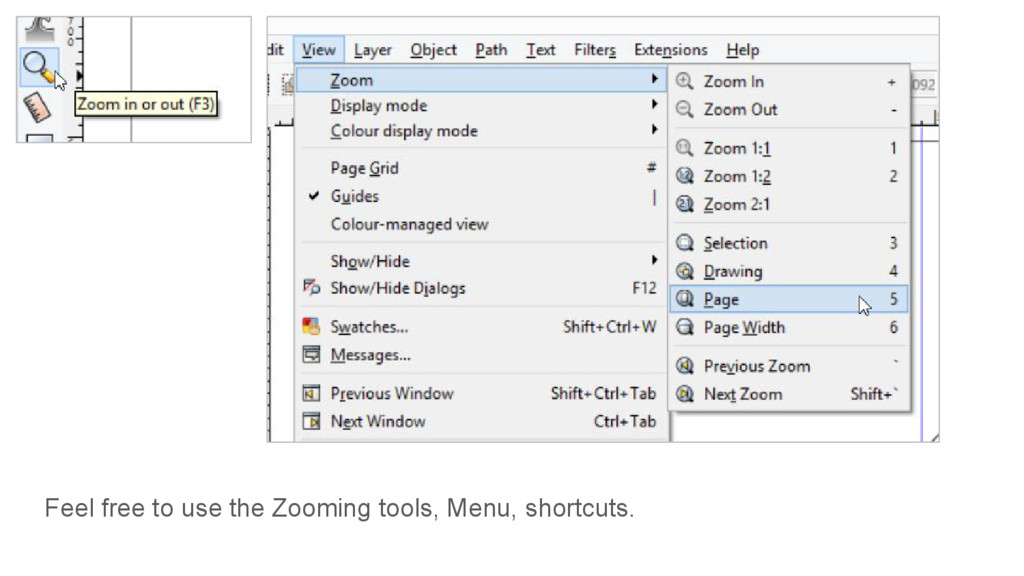 Feel free to use the Zooming tools, Menu, short...