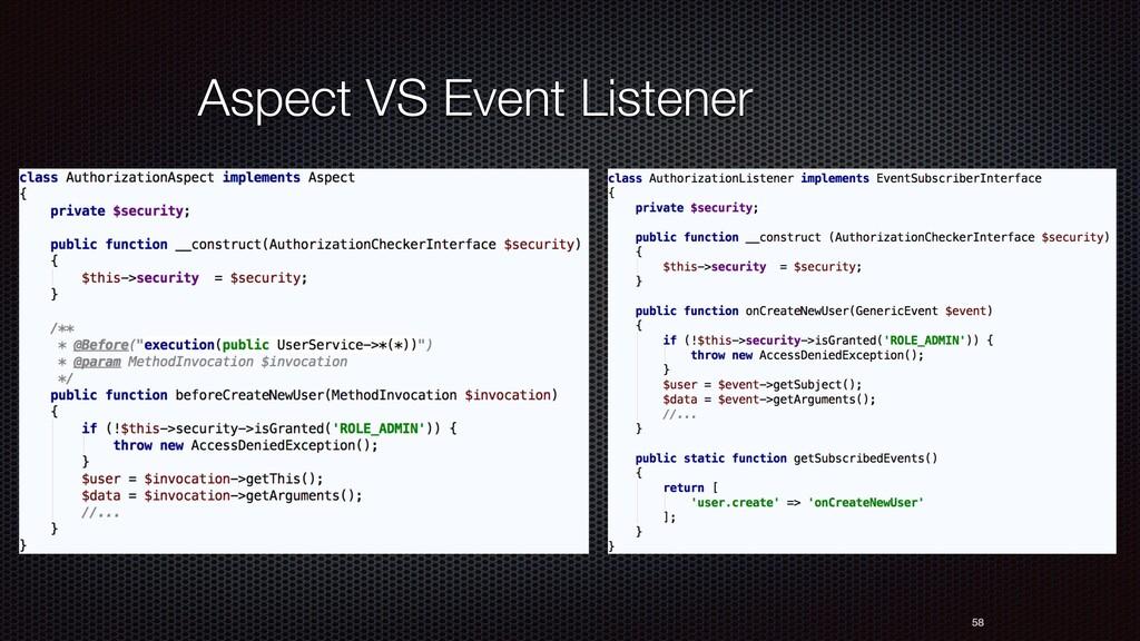 58 Aspect VS Event Listener