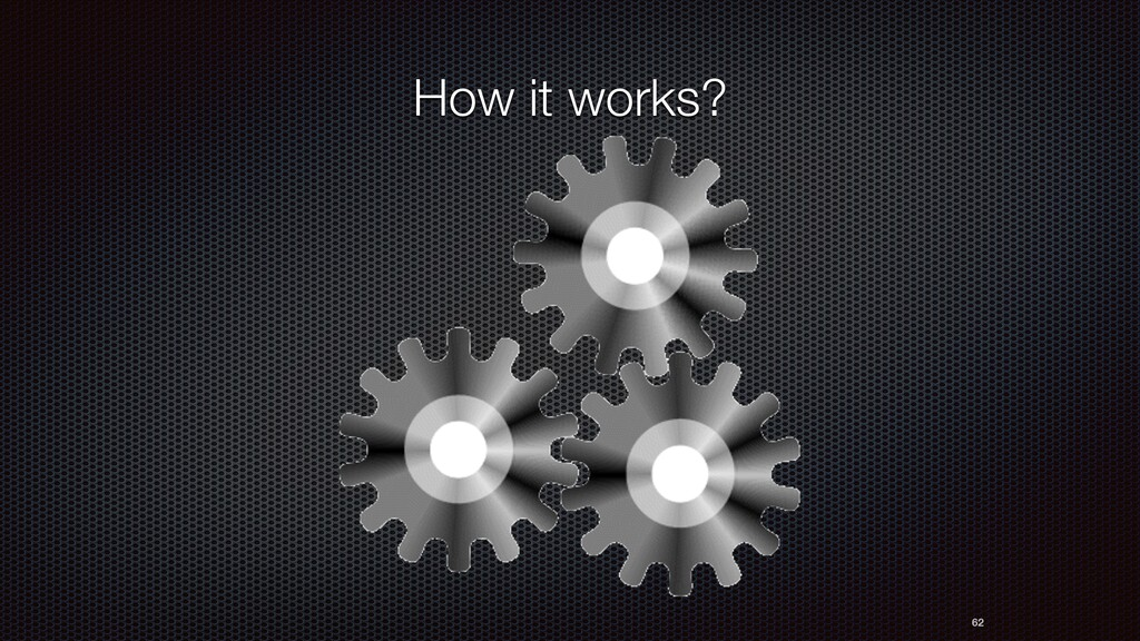 How it works? 62