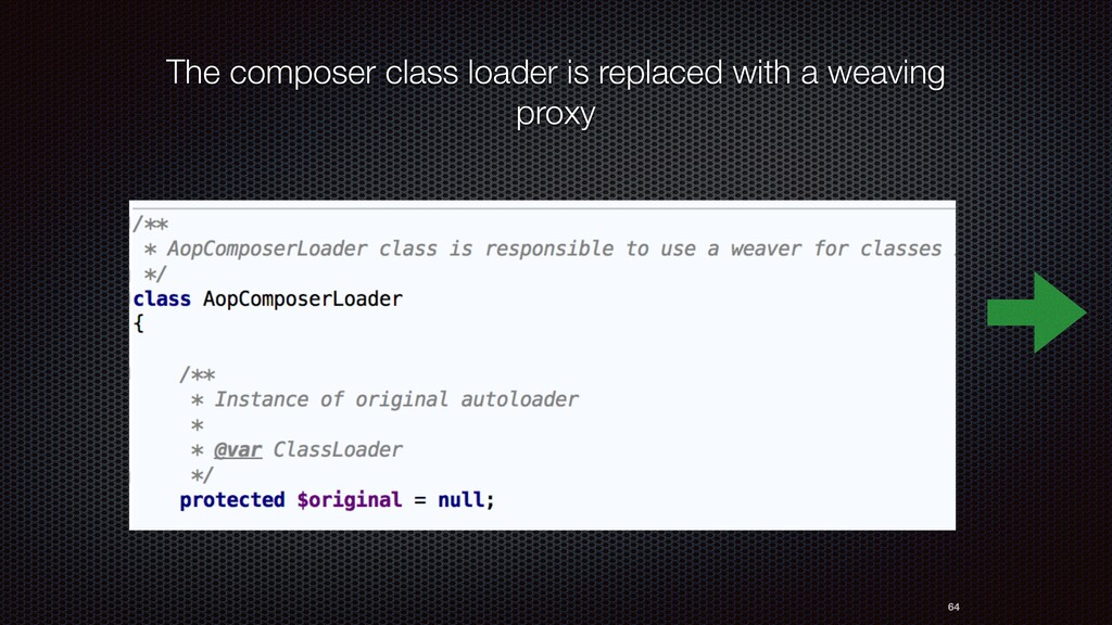 64 The composer class loader is replaced with a...