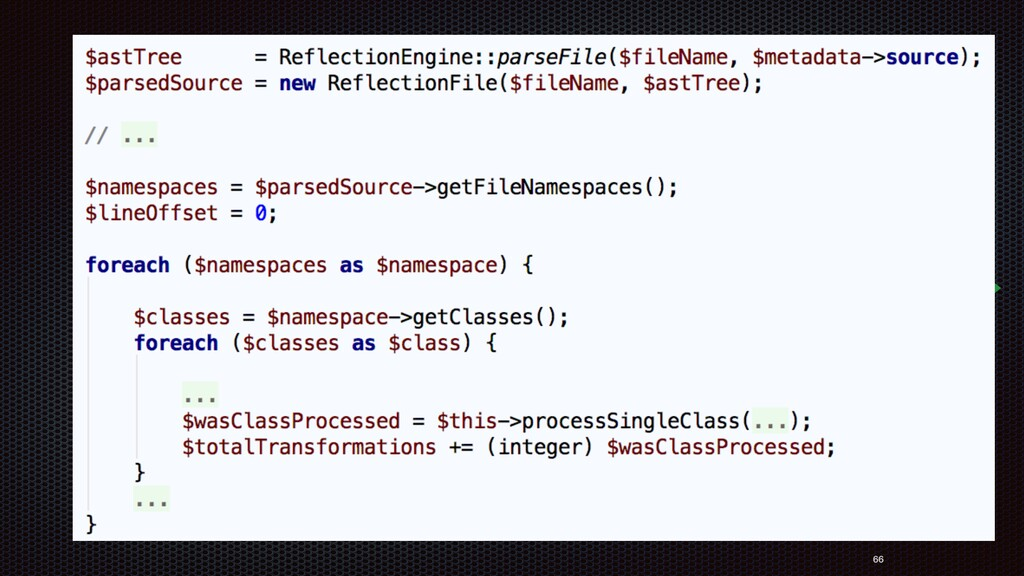 66 Static reflection is created from the AST (go...