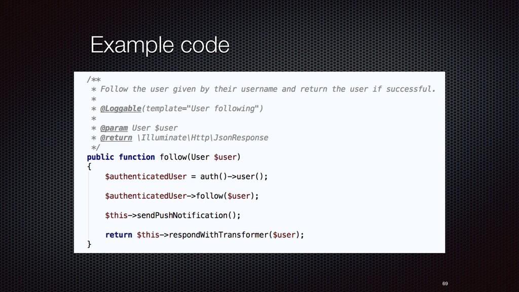 69 Example code