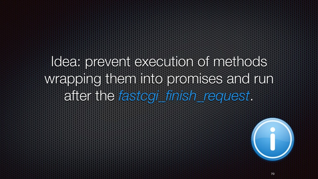 70 Idea: prevent execution of methods wrapping ...