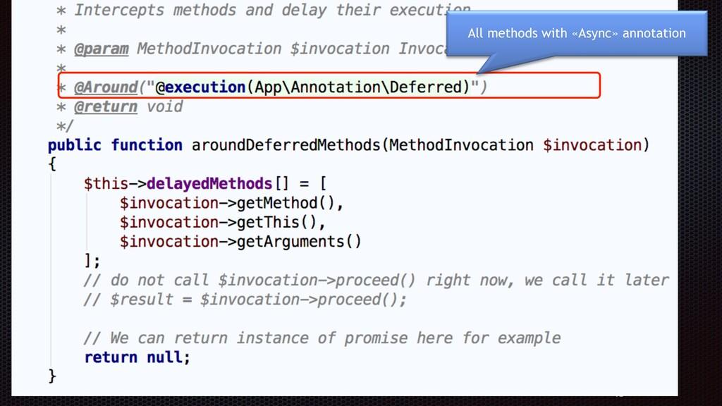 72 Define an aspect All methods with «Async» ann...