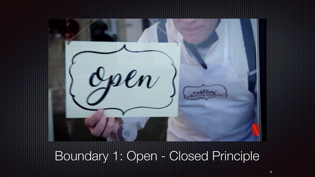 6 Boundary 1: Open - Closed Principle