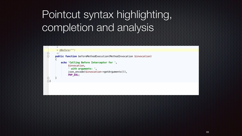 Pointcut syntax highlighting, completion and an...