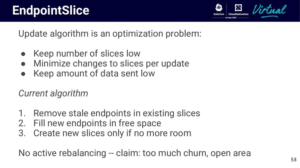 EndpointSlice Update algorithm is an optimizati...