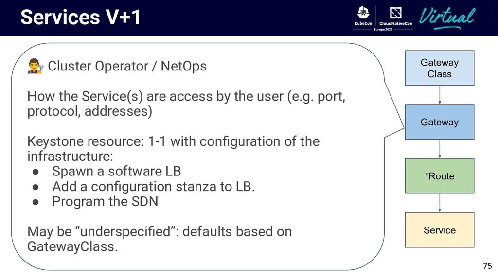 Services V+1 75 Gateway Class Gateway *Route Se...
