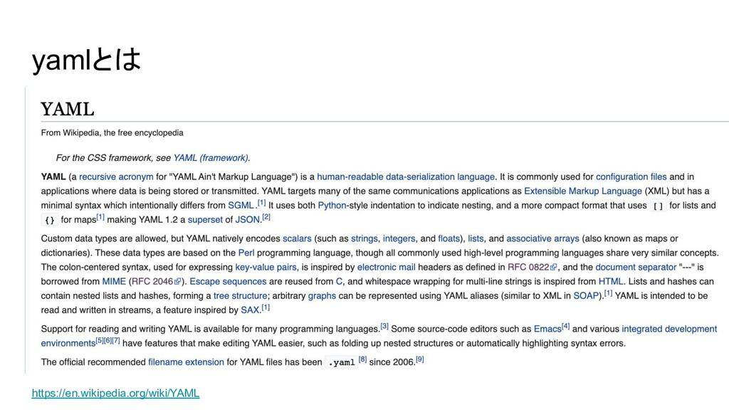 yamlとは https://en.wikipedia.org/wiki/YAML
