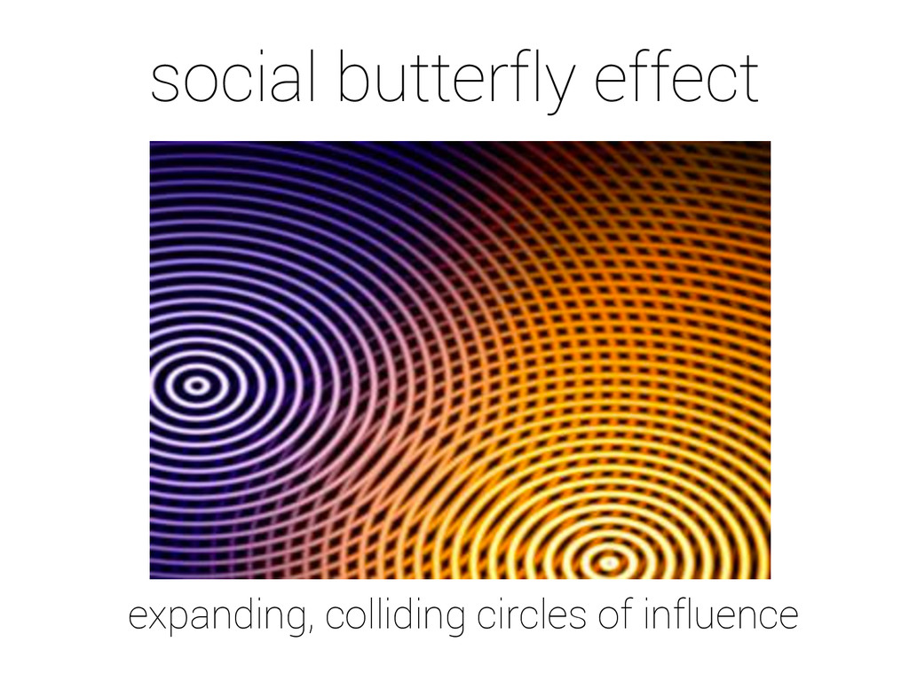 social butterfly effect expanding, colliding ci...