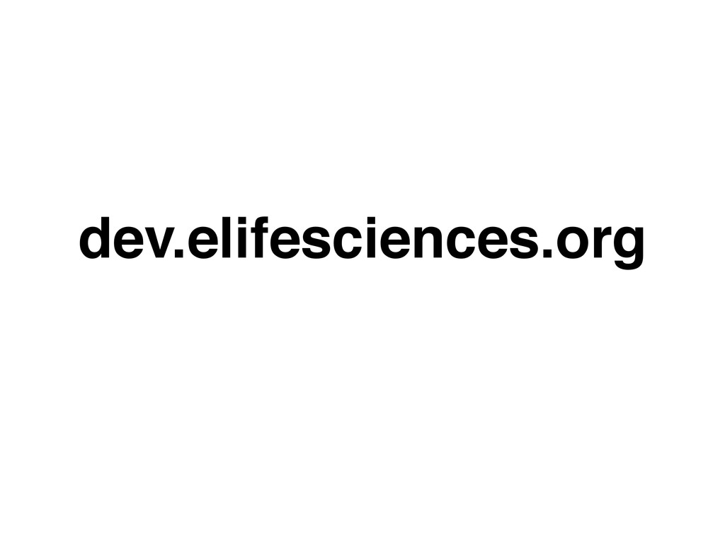 dev.elifesciences.org