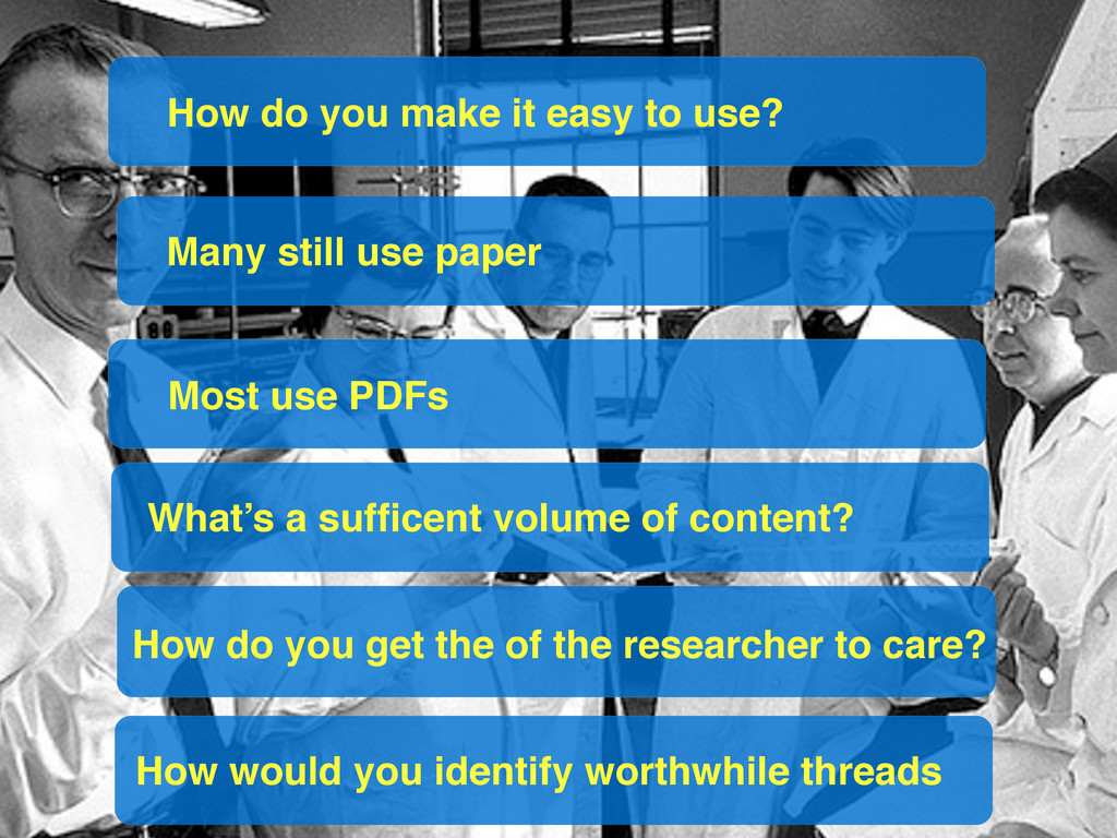 Many still use paper Most use PDFs How do you g...